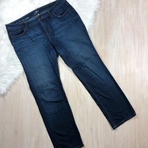 LOFT Blue Curvy Straight Denim Jeans 31